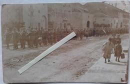 1916 Abancourt Bezange Lotharingie LIR15 Cérémonie Funèbre Carte Trouvée En 1939 Poilu Tranchée Ww1 14-18 Carte Photo - Guerra, Militares