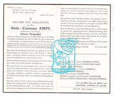 DP Aloïs Constant Ampe ° Oostrozebeke 1870 † Ledegem 1949 X Juliana Despeghel / Dobbels D'Haeyere Verloo Dumeez - Devotion Images