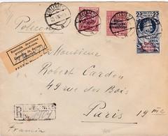 Env Recommandée T.P Ob Lubliniec 29 VII 38, Env Pour Paris 19ème - 1919-1939 Republic