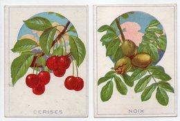 - 2 CHROMOS NOIX + CERISES - Edition Librairie D'Education Nationale - - Trade Cards