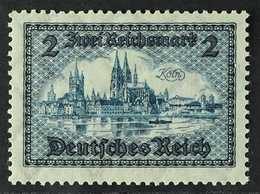1930 2m Blue Cologne (Michel 440, SG 458), Never Hinged Mint, Fresh. For More Images, Please Visit Http://www.sandafayre - Germany