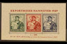 BRITISH / AMERICAN ZONE 1949 Hannover Fair Miniature Sheet, Mi Block 1a, Never Hinged Mint For More Images, Please Visit - Germany