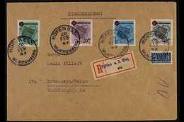 FRENCH ZONE WURTTEMBERG 1949 (28 Feb) Registered Cover To Baden, Bearing 1949 Red Cross Complete Set (Michel 40/43 A) Ti - Germany