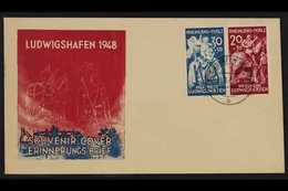 FRENCH ZONE RHEINLAND-PFALZ 1948 Ludwigshaven Explosion Fund Complete Set (Michel 30/31) Superb Cds Used On Illustrated  - Germany