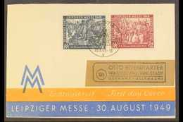 RUSSIAN ZONE 1949 Leipzig Fair Complete Set (Michel 240/41, SG R60/61) On Illustrated First Day Cover (missing Back Flap - Germany