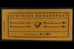 1955 2.50m Heuss Complete Booklet (Michel MH 2c, SG SB51), Never Hinged Mint. For More Images, Please Visit Http://www.s - [6] Democratic Republic