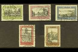 1924 (SEPT-NOV) Pictorials Complete Set, Michel 207/211, Very Fine Used. (5 Stamps) For More Images, Please Visit Http:/ - Danzig