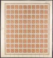 SLESVIG 1920 2½pf, 5pf & 7½pf (Michel 1/3) Never Hinged Mint COMPLETE SHEETS Of 100. 2½pf Sheet With Paper Adhesion Affe - Germany