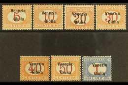 VENEZIA GIULIA POSTAGE DUES 1918 Overprint Set Complete, Sass S4, Very Fine Mint. Cat €1000 (£760) Rare Set. (7 Stamps)  - Italy