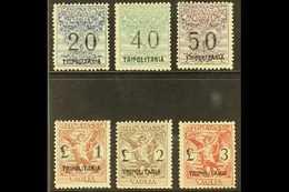 TRIPOLITANIA MONEY ORDER STAMPS (SEGNATASSE PER VAGLIA) 192426 Overprints Complete Set (40c With Large Overprint), Sasso - Italy