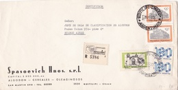 """""""SPASOEVICH, ALGODON CEREALES"""" ARGENTINA COMMERCIAL COVER, CIRCULATED QUITILPI, CHACO TO BUENOS AIRES, 1979 -LILHU - Storia Postale"""