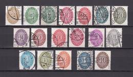 Deutsches Reich - Dienstmarken - 1927/33 - Michel Nr. 114/131 - Gest. - 80 Euro - Oblitérés