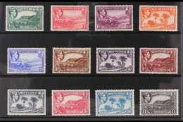 1938-48 Definitives Complete Set, SG 101a/12, Never Hinged Mint. (12 Stamps) For More Images, Please Visit Http://www.sa - Montserrat