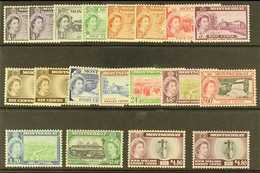 1953-62 Pictorials Complete Set With All Types I & II, SG 136a/49, 136b, 139a, 142a & 149a, Never Hinged Mint, Fresh. (1 - Montserrat