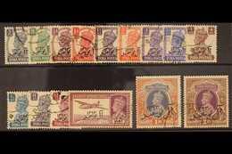 1944 Geo VI Set Ovptd Bicent. Of Al-Busaid Dynasty, Postage Set Complete, SG 1/15, Very Fine Used. (15 Stamps) For More  - Oman