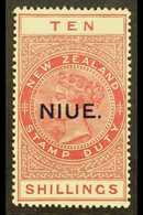 1918-29 10s Brown-red, Thick, Opaque, White Chalky Paper, SG 37b, Fine Mint. For More Images, Please Visit Http://www.sa - Niue