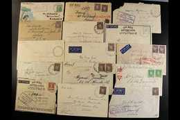WW2 AUSTRALIAN FORCES - A.I.F. FIELD P.O. DATESTAMPS A Fine Collection Of Covers (couple Of Fronts) Back To Australia, B - Papua New Guinea