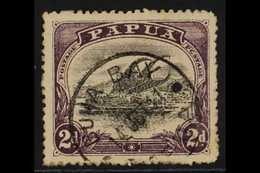 """1910-11 2d Black & Dull Purple Lakatoi With 'C' FOR 'O' IN 'POSTAGE' Variety, SG 77a, Fine Cds Used With Nice """"Buna Bay"""" - Papua New Guinea"""