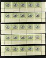 1916-31 NHM ASH IMPRINT BLOCKS Presented On Stock Pages That Includes 1916-31 ½d Myrtle & Olive Green (SG 93a) Imprint B - Papua New Guinea