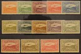 """1939 Bulolo Goldfields """"Airmail"""" Postage Set, SG 212/25, Very Fine Mint, Lightly Hinged Only (14 Stamps). For More Image - Papua New Guinea"""