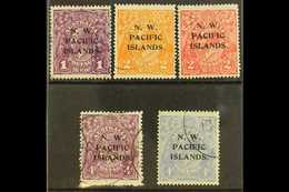 NWPI 1918-23 Heads Watermark Type W5 Overprints Complete Set, SG 120/24, Very Fine Used, Fresh. (5 Stamps) For More Imag - Papua New Guinea
