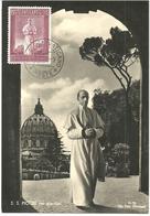 Vatican 1958 World Exhibition In Brussels. World Exhibition In Brussels. Pope Pius XII (1939-1958)  Mi 288 MaximumCard - Vatican