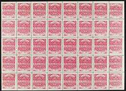 'SAMOA EXPRESS' REPRINTS COMPLETE SHEET OF 40. 1892 2d Rosine Perf 12½, Very Fine Mint (only Four Stamps Hinged) COMPLET - Samoa