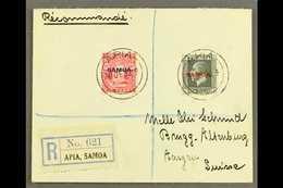 1933 6d Carmine & 1½d Slate, SG 119, 135, 7½d Franking On Registered Cover To Switzerland, Tied By Apia 30.12.33 Postmar - Samoa