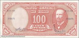 TWN - CHILE 127a3 - 10/100 Centesimos/Pesos 1960-61 Serie K 11-101 - Signatures: Mackenna & Ibañez UNC - Chile