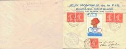 J47 - MARCOPHILIE - Jeux Mondiaux De Ski De La F.I.S. Chamonix-Mont-Blanc - Cachet Du 11-2-1937 - 1927-1959 Covers & Documents