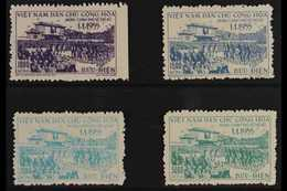 1956 Return Of Government To Hanoi Set, SG N42/45, Very Fine Unused As Issued (4 Stamps) For More Images, Please Visit H - Vietnam