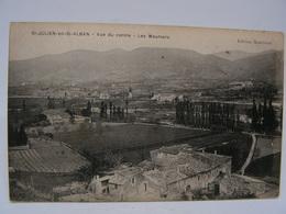 CPA 07 ARDECHE SAINT JULIEN EN SAINT ALBAN VUE DU CENTRE LES MEUNIERS 758 - Otros Municipios
