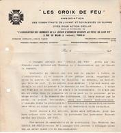 Croix De Feu & Briscards 1930 ? / Création D'un Insigne Spécifique /  Sur épingle Ou Boutonnière - Documenti Storici