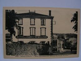 CPA 07 ARDECHE SARRAS HOTEL RECOMMANDE MARCEL BERTRAND SUCCESSEUR HOTEL DE LA GARE CREMILLEUX 763 - Otros Municipios