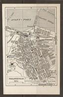CARTE PLAN 1955 - ALGÉRIE PHILIPPEVILLE - GRANDE DARSE CITERNE ROMAINE MOSQUÉE PILOTAGE GARE Des AUTOBUS - Cartes Topographiques