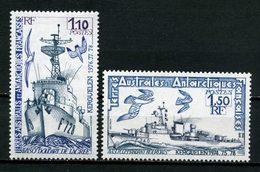 TAAF 1979  N° 79/80 ** Neufs MNH C 3.10 € Superbes Bateaux Navires Avisos Oiseaux Birds Doudart De Lagrée Ships - Tierras Australes Y Antárticas Francesas (TAAF)