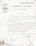 Thermidor An 10 (1802) La Ville Du HAVRE (76) à La Ville De FONTENAY (85) - Annonce De Décès - Documenti Storici