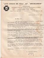 Croix De Feu & Briscards Juillet 1934 / Invitation Aux Obsèques Maréchal Lyautey à Nancy - Documents Historiques