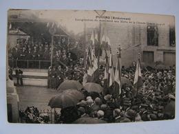 CPA 08 ARDENNES FLOING INAUGURATION DU MONUMENT AUX MORTS DE LA GRANDE GUERRE TRES ANIMEE 770 - Frankrijk