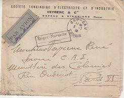 "INDOCHINE : PA . SAIGON - MARSEILLE . DE "" DAP CAU TONKIN "" . POUR LA FRANCE . 1932 . - Indochine (1889-1945)"