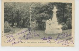 PARIS - VIIIème Arrondissement - Parc Monceau - Monument De MAUPASSANT - Statues