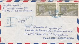 REPUBLICA DOMINICANA CIRCULATED ENVELOPE FROM AZUA TO BUENOS AIRES, ARGENTINA IN 1978, AIRMAIL REGISTERED -LILHU - Dominicaine (République)