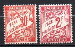 Col17  Colonie Algérie Taxe N° 25 & 26 Neuf X MH Cote 1,30€ - Argelia (1924-1962)