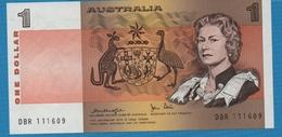 AUSTRALIA  1 Dollar NDSerial DBR 111609 Signatures: Knight & Stone P# 42c - Decimal Government Issues 1966-...