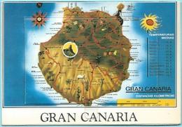 0562 - GRAN CANARIA - MAP + MINI CARDS - Cartes Géographiques