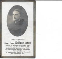 Oorlog Guerre Soldaat Brancardier Ardies Gregorius ° Mechelen 25 04 1885 Gesneuveld Wezemaal 11 09 1914 Held Van Tielt - Religion & Esotérisme