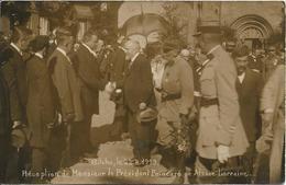 BITCHE Carte Photo Réception De Mr Le Président Poincaré - Bitche