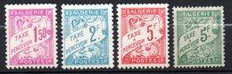 Col17  Colonie Algérie Taxe N° 29 à 32  Neuf X MH Cote 5,00€ - Argelia (1924-1962)