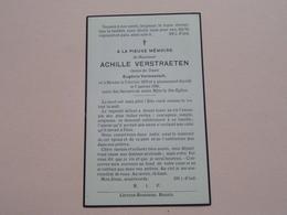 DP Achille VERSTRAETEN ( Eugénie Vermeersch ) Renaix 2 Fev 1875 - 7 Jan 1936 ! - Todesanzeige