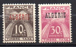 Col17  Colonie Algérie Taxe N° 33 & 34  Neuf XX MNH Cote 1,40€ - Argelia (1924-1962)